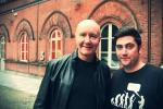 Mirko Aretini con Irvine Welsh (scrittore del romanzo Trainspotting)